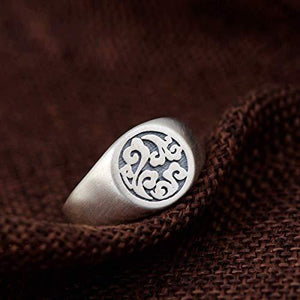 Solid 925 Sterling Silver AUSPICIOUS CLOUDS  Ring