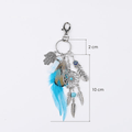 Natural Opal stone Dream Catcher Feather Keyring