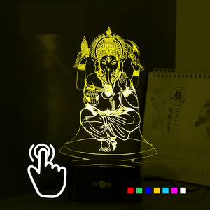 Lord Ganesha 7 Color LED Table Lamp