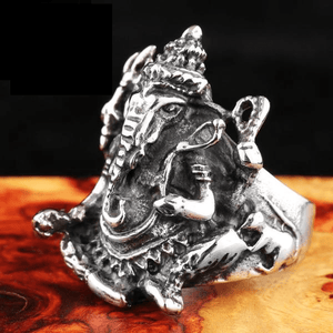 Lord Ganesha Stainless Steel Ring