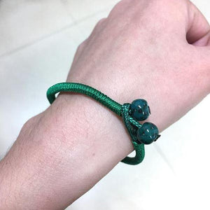 2pc/ Set GREEN Rope ' STAY STRONG ' COMPASSION Bracelets