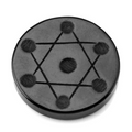7 Hexagonal Chakra Point Stones on Seven-Star Obsidian Matrix