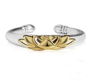 925 Sterling Silver Adjustable Open LOTUS Flower ' REBIRTH'  Ring