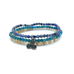 WEIGHT LOSS MOTIVATORS -Apatite,Sunstone & Sodalite- 3/pc  *MIGHTY MINIS*  Healing Energy Stone Bracelets