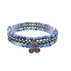 EXPRESSION & WILLPOWER-Blue Aventurine, Sodalite & Pyrite- 3/pc