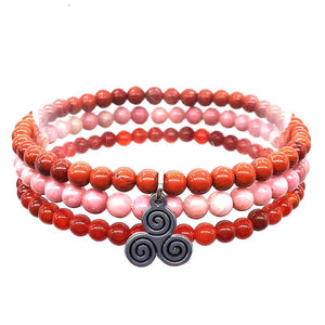 HOT PASSION TICKLERS-Red Jasper, Carnelian & Rhodonite- 3/pc