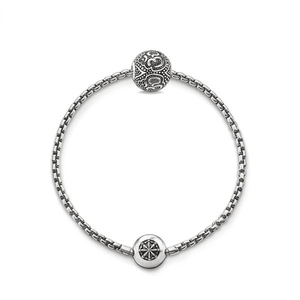 Silver Plated Bracelet with 925 Sterling OM Bead Charm