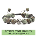 Natural African Turquoise,Malachite POWER Stone bracelet