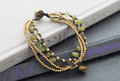 Natural Peridot Stone & Thai Brass 'NATURE'S SUNSHINE' Bracelet