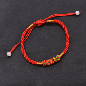 Hand woven Red Rope & Pineapple Knot Good Luck Bracelet