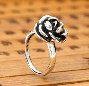Sterling Silver ' THORN BETWEEN A ROSE ' Women's Self Defense Ring