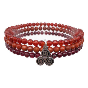 ULTRA ENERGY BOOSTERS -Red Jasper, Carnelian & Garnet- 3/pc  *MIGHTY MINIS*  Healing Energy Stone Bracelets