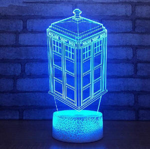 Doctor Who TARDIS 7 Color LED Lamp-Great Gift for Whovians!