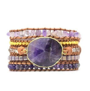 Amethyst SOOTHING ENERGY Multi- wrap Bracelet -IN STOCK USA!