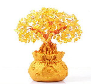 Attract MONEY & Abundance with a CITRINE FENG SHUI MONEY TREE-3 sizes