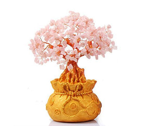 Attract LOVE with a FENG SHUI ROSE QUARTZ Crystal Tree- 3 sizes available