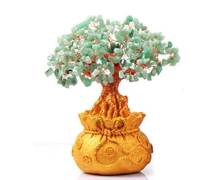 Attract Luck & Good Fortune with an AVENTURINE FENG SHUI WISH FULFILLING TREE-3 sizes