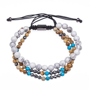 Multilayer Hematite,Jasper & Howlite CALMING Bracelet Set