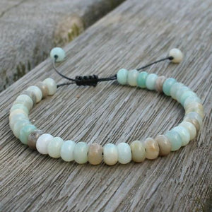 AMAZONITE & other Natural Stones  ABACUS Bead CALMING Men's Bracelet