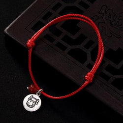 925 Sterling Silver Chinese Zodiac Animal Red Rope bracelets-Find your Animal!