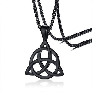 Men's Stainless Steel Viking TRIQUETRA KNOT Necklace