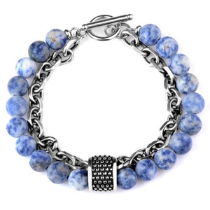 Natural Stone  & Titanium Steel ENERGY Bracelet- 6 Stones to Choose from .