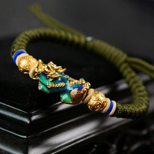 Thermochromic PIXIU FENG SHUI ABUNDANCE Attracting Rope Bracelet