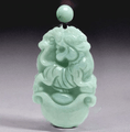 2021 - Year of The Ox! Carved Natural Burmese Jadeite Necklace - Choose your Animal!