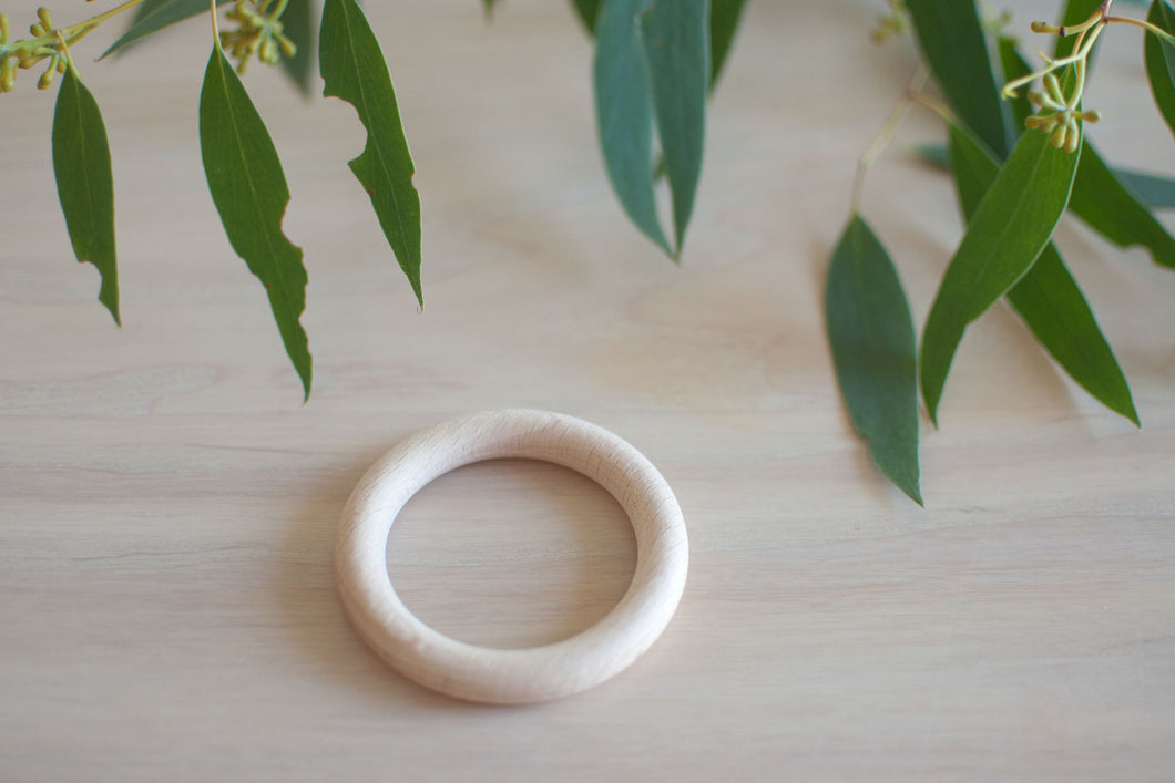 Natural Eco Beech timber rings - 70mm
