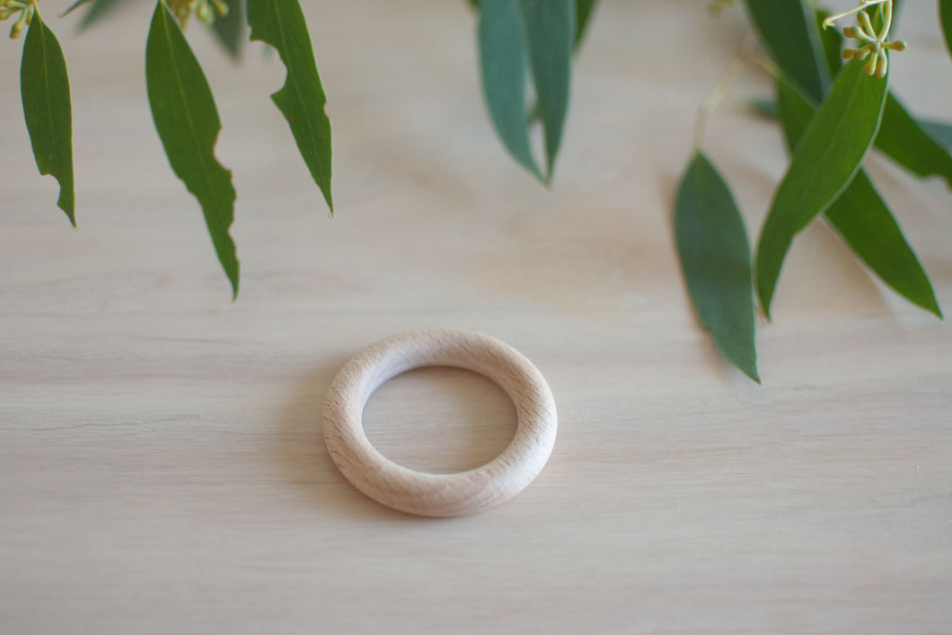 Natural Eco Beech timber rings - 56mm