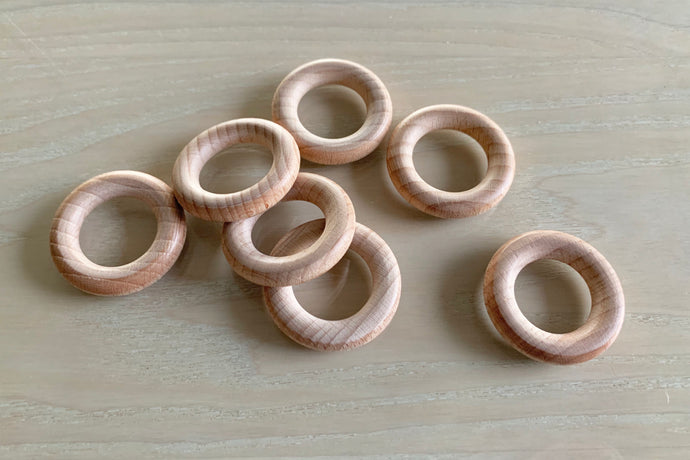 Natural Eco Beech timber rings - 40mm