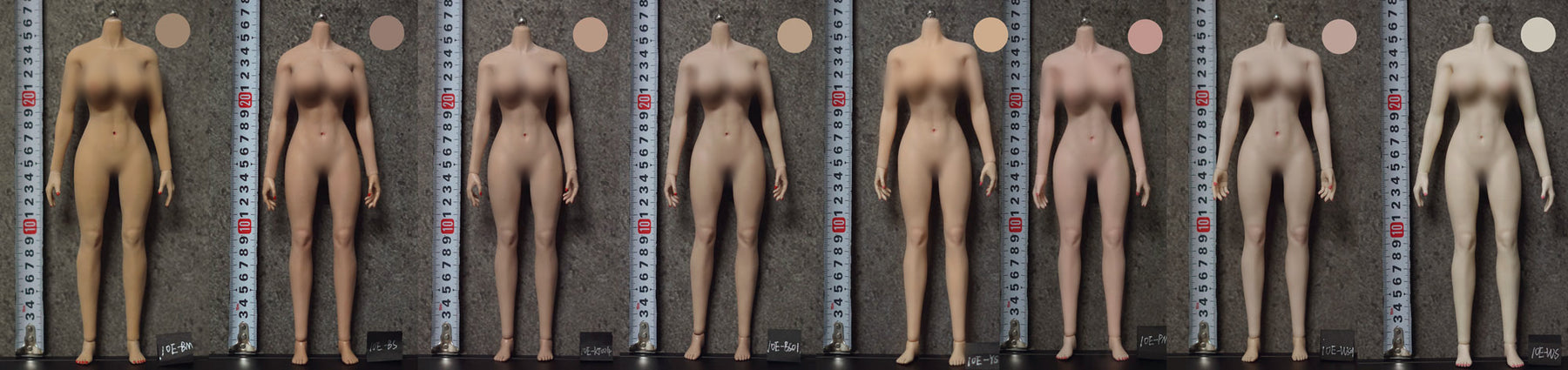 Skin Tones of Jiaou Doll Seamless Figures