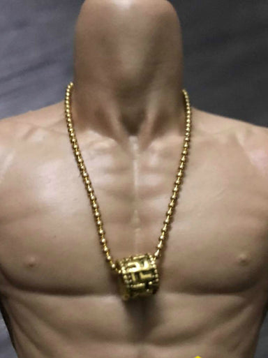 1//6 Scale Big Golden Skull Necklace For HOT TOYS PH Fashion clothes