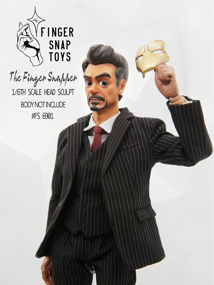 Pre-order FingerSnap toys FS6901 Head Sculpt 1/6 Scale For Tony Stark Iron Man
