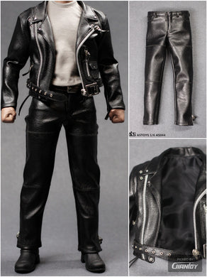 In-Stock ASTOYS AS044 1/6 Punk Leather Suit Men's Clothes Set For 12in Body