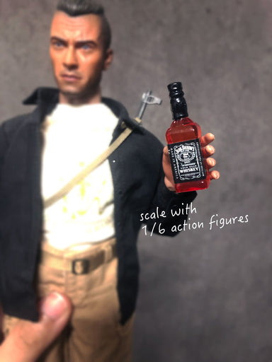 1/6 scale Whiskey Bottle Jack Daniels mini bar scene Mr. Wolf add-on