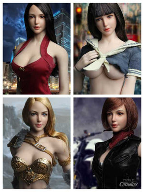 In-Stock 1/6 Scale SUPER DUCK SDH011 Female Head Sculpt H#pale