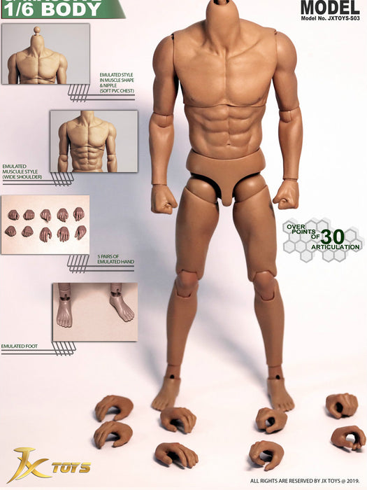 In-Stock JXtoys S03 JXS03 1/6 Scale 12IN Male Body