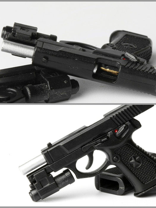 In-Stock Black Plastic Pistol 1/6 QSZ92 Automatic Gun For 12in Action Figure