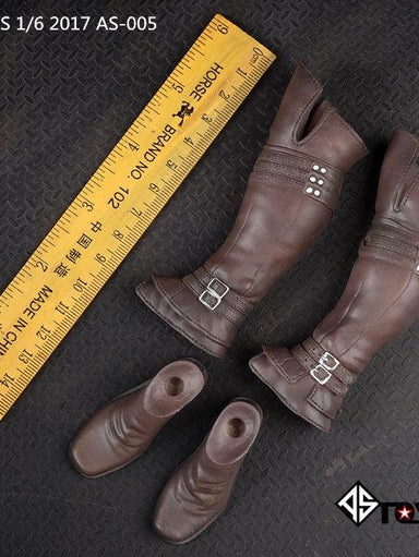 In-Stock 1//6 Scale ASTOYS AS028 Female Knee Combat Boots Detachable Feet 12in