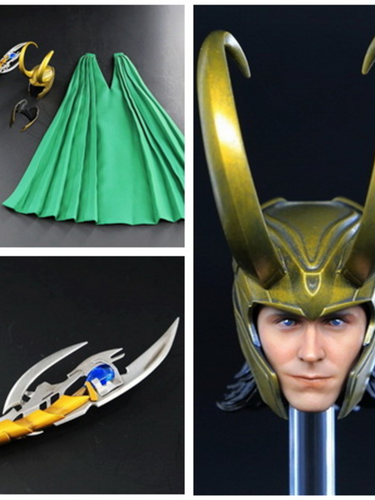 Toy era 1/6 Loki Tom Hiddleston The Avengers : The Thor Head Clothes set 12''