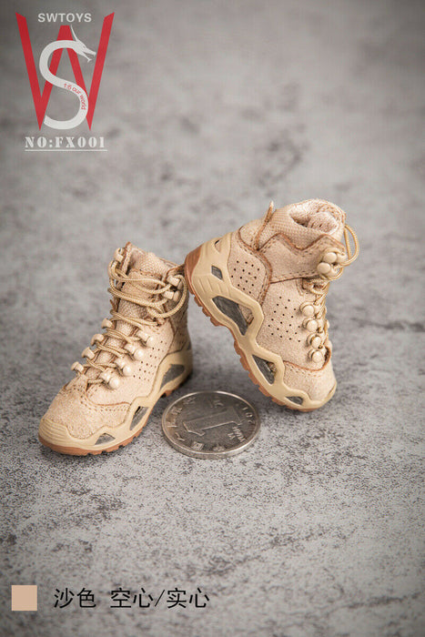 Pre-order 1/6 SWTOYS FX001 Male Tactical Boots Accessories (Peg & Hollow ver.)