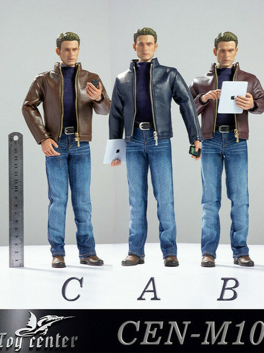 In-stock 1/6 Toy Center CEN-M10 Male Leather Fashion Clothes Set