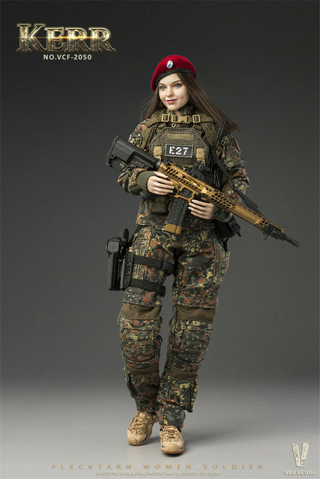 Pre-order 1/6 FLECKTARN WOMEN SOLDIER—KERR Action Figure VCF2050