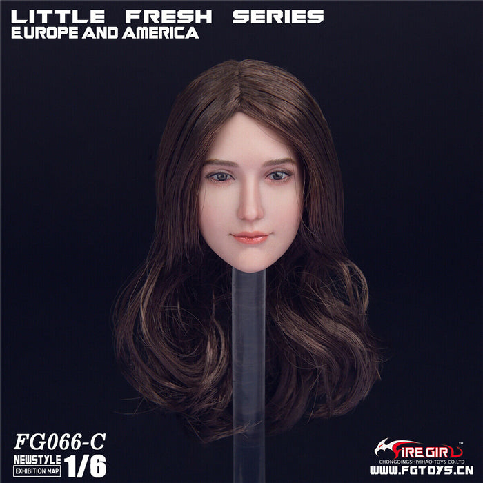 In-Stock 1/6 Scale Fire Girl Head Sculpt FG066 H#pale