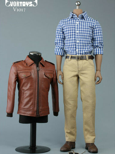 Pre-order 1/6 VORTOYS Retro Leather Male Suit Clothes Set V1017