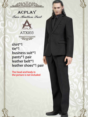 In-Stock ACPLAY ATX033 1/6 Scale Men's Black Business Suit Set For Loki Standard