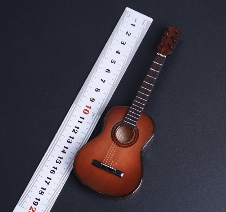 1/6 Scale FIGURE Original Wood Color Folk Guitar SET Musical Instrument G