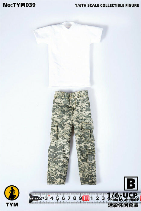 In-stock 1/6 TYM 039 Tactical Camouflage Vest & Trousers