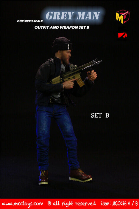 "Pre-order 1/6  MCCTOYS MCC026 ""GREYMAN"" outfit and weapon set"